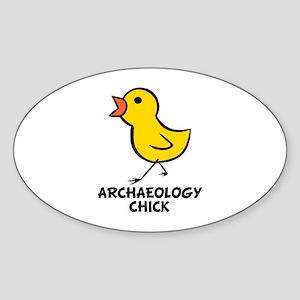 Chick Oval Sticker