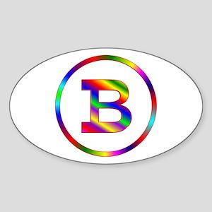 Letter B Sticker (Oval)