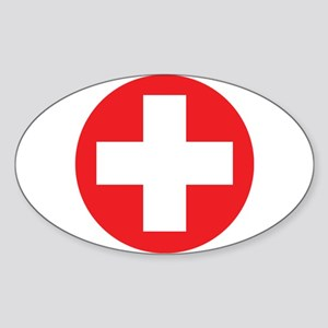 Original Red Cross Sticker (Oval)