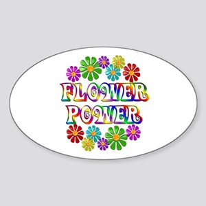 Flower Power Sticker (Oval)