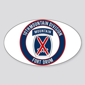 10th Mountain Ft Drum Sticker (Oval)