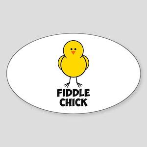 Fiddle Chick Sticker (Oval)