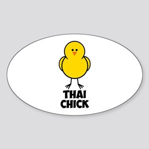 Thai Chick Sticker (Oval)