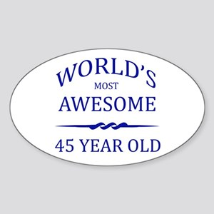 World's Most Awesome 50 Year Old Sticker (Oval)