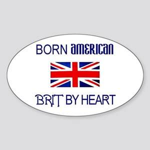 Born American, British by Hea Oval Sticker