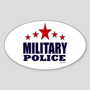 Military Police Sticker (Oval)