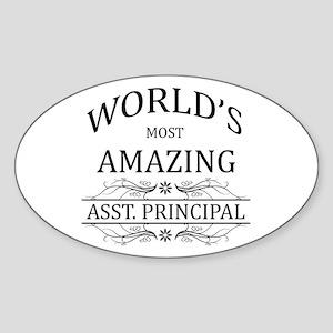 World's Most Amazing Asst. Principa Sticker (Oval)