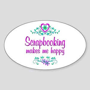 Scrapbooking Happy Sticker (Oval)