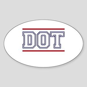 DOT Sticker (Oval)