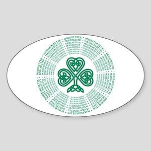 Dorchester, MA Celtic Sticker (Oval)