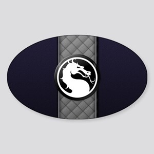 Mortal Kombat Logo - Smoke Sticker (Oval)