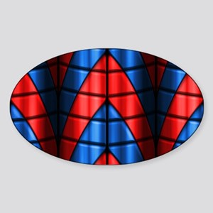 Superheroes - Red Blue Sticker (Oval)