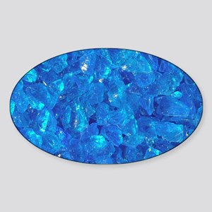 TURQUOISE GLASS Sticker (Oval)