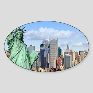 NY LIBERTY 1 Sticker (Oval)