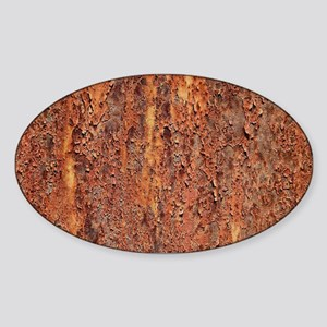 FLAKY RUSTING METAL Sticker (Oval)
