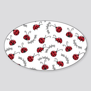 Little Red Ladybugs Sticker