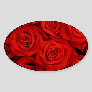 modern romantic red rose petals Sticker