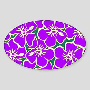 Tropical Purple Hibiscus Flowers Sticker
