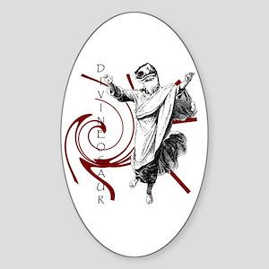 Divineosaur Oval Sticker