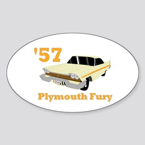 Chrysler Mopar '57 Plymouth F Oval Sticker
