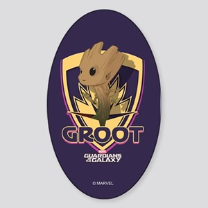 GOTG Baby Groot Emblem Sticker (Oval)