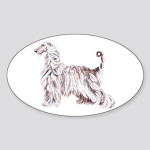 Afghan Hound Elegance Oval Sticker