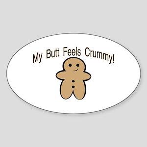 Crummy Butt Oval Sticker