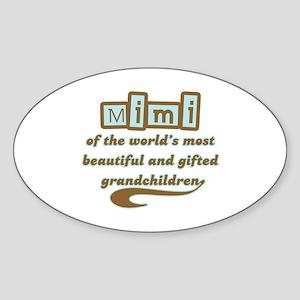 Mimi of Gifted Grandchildren Oval Sticker