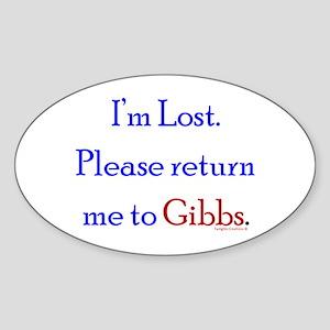 Return Me to Gibbs Sticker (Oval)