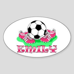 Girl Soccer (Emily) Oval Sticker