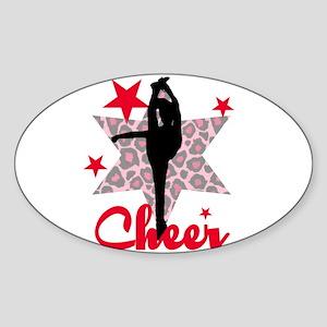 Red Cheerleader Sticker