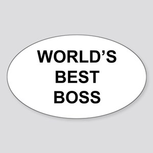"""World's Best Boss"" Oval Sticker"