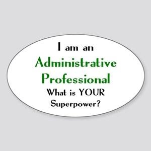 administrative professional Sticker (Oval)