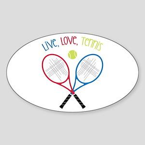 Live, Love, Tennis Sticker