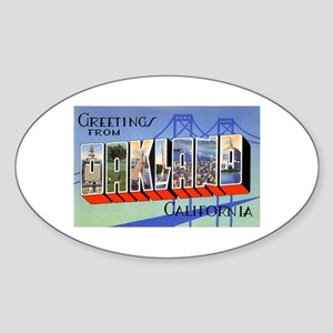 Oakland California Greetings Oval Sticker