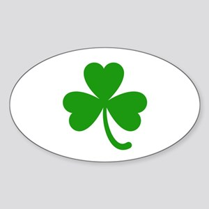 3 Leaf Kelly Green Shamrock with Stem Sticker