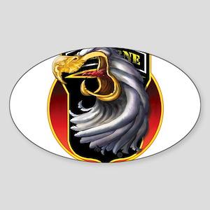 Screamin' Eagles Badge Oval Sticker