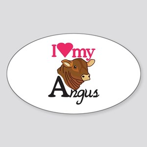 I Love My Angus Sticker