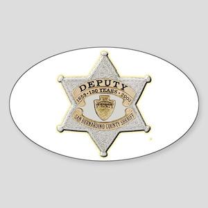 San Bernardino Sheriff Anniversary Badge Sticker