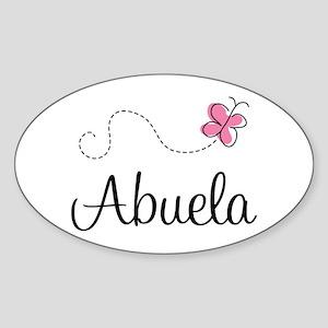 Abuela Grandmother Oval Sticker