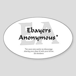 Ebayers Anonymous Oval Sticker
