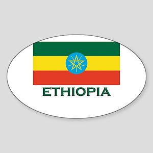 Ethiopia Flag Merchandise Oval Sticker