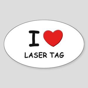 I love laser tag Oval Sticker