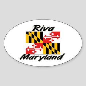 Riva Maryland Oval Sticker