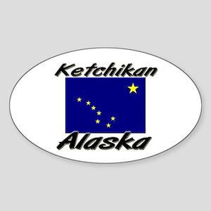 Ketchikan Alaska Oval Sticker