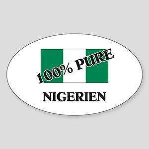 100 Percent NIGERIEN Oval Sticker