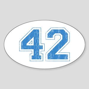 Retro Number 42 Oval Sticker