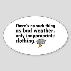 'Bad Weather' Sticker (Oval)