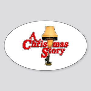 A Christmas Story Movie Lamp Sticker (Oval)