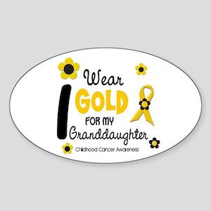 I Wear Gold 12 Granddaughter Oval Sticker